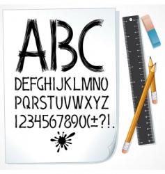drawn alphabet vector image