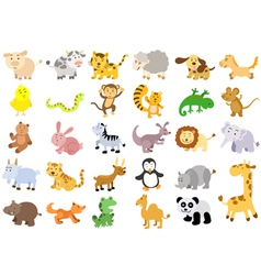 Extra large set of animals vector image
