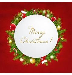 Merry Christmas Festive Card vector image vector image
