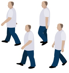 Set of position a person walking vector image vector image