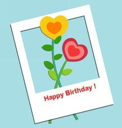 Happy birthday balloon vector image