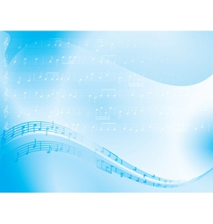 light blue abstract background - music notes vector image