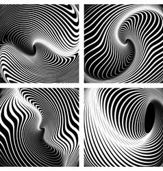 Op art backgrounds set vector image vector image