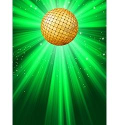 Sparkling disco ball vector image vector image