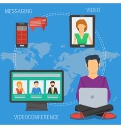 Square concept internet communication vector