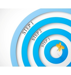Steps to the target vector image