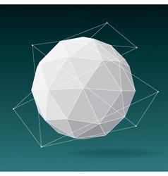 White globe geometrical background vector image
