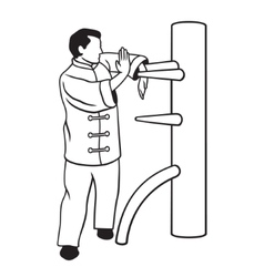 Wing Chun vector image vector image