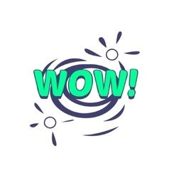 Wow Comic Speech Bubble vector image vector image