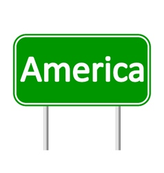 America road sign vector image vector image