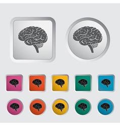 Brain icon 2 vector image