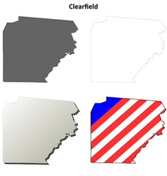 Clearfield Map Icon Set vector image vector image