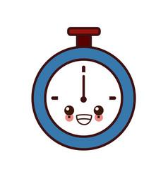 clock timer isolated kawaii cartoon vector image