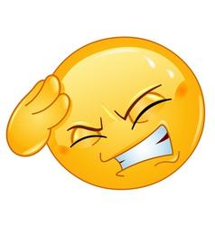 headache emoticon vector image