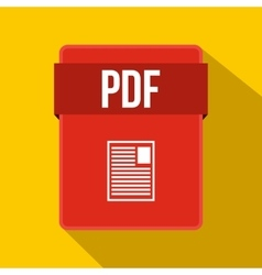 PDF file icon flat style vector image vector image