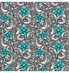 seamless floral hand draw pattern vector image vector image