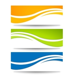 Set of banners for your design vector image