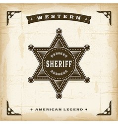 Vintage Western Sheriff Badge vector image vector image