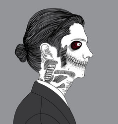 a guy who looks like a zombie is dying vector image