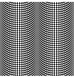 Abstract Halftone Black and White Seamless Pattern vector image