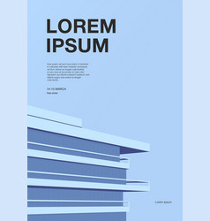 Advertising poster with abstract architecture vector