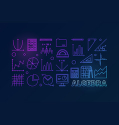 Algebra colorful outline vector