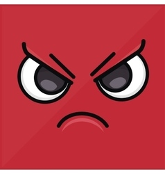 angry wallpaper emoticon design icon vector image