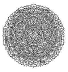 Arabic indian ottoman motifs monochrome contour vector