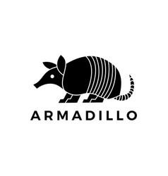 Armadillo logo icon vector