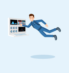astronaut training flat vector image