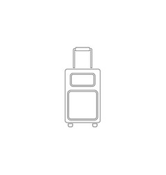 bag of travel flat icon vector image