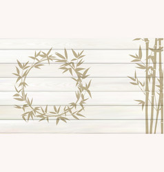 bamboo background for your design tropical leaves vector image