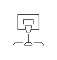 basketball rack line outline icon vector image