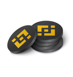 Binance coin cryptocurrency tokens vector