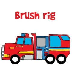 Brush rig with hand draw vector