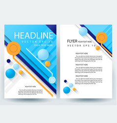 business corporate brochure template design vector image