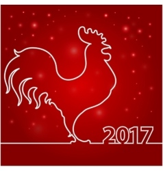 card of Chinese New year 2017 vector image