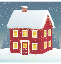 Christmas cozy home vector