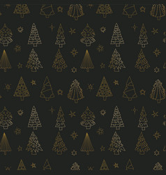 christmas seamless pattern with christmas vector image