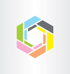 colorful hexagon business tech logo icon vector image