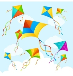 Colorful Kite Background vector image