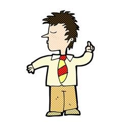 comic cartoon man making his point vector image