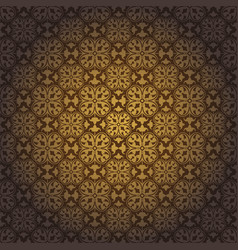 Dark brown abstract damask pattern background vector