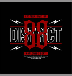 District 88 eastern division worldwide dept vector