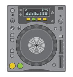 Dj cd player vector