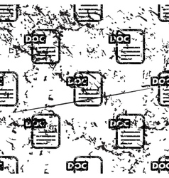 DOC document pattern grunge monochrome vector