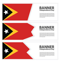 east timor flag banners collection independence vector image