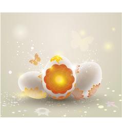 Easter light background vector