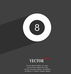 Eightball Billiards symbol Flat modern web design vector image