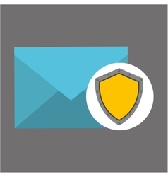 Email concept protection shield icon vector
